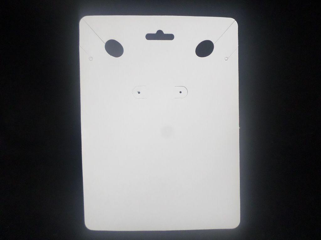 Cartela D01 Branca 14X19 com 100 unidades (cartela para brinco e colar)