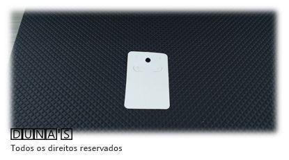 Cartela D04 Branca 4x5 com 100 unidades (cartela para brinco)