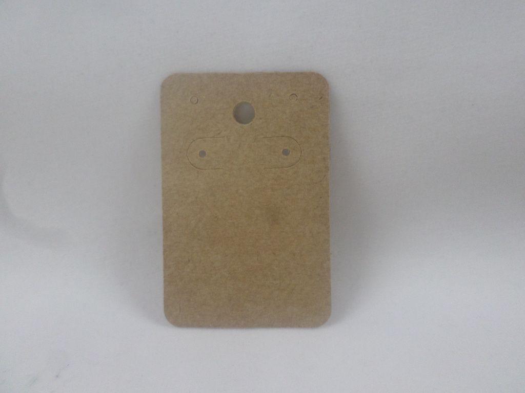 Cartela D06 kraft 5x7 com 100 unidades (cartela para brinco)