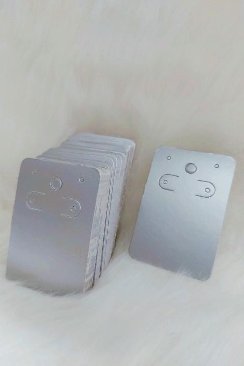 Cartela D06 Prata 5x7 com 100 unidades