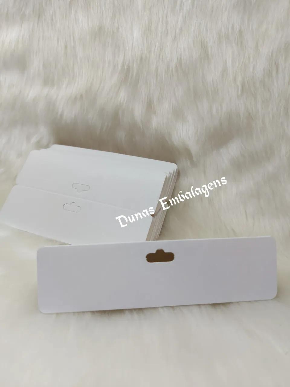 Cartela D12 Branca 8x16 pacote com 1000 unidades