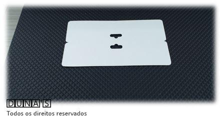 Cartela D12 Branca 8x16 pacote com 100 unidades (Solapa)