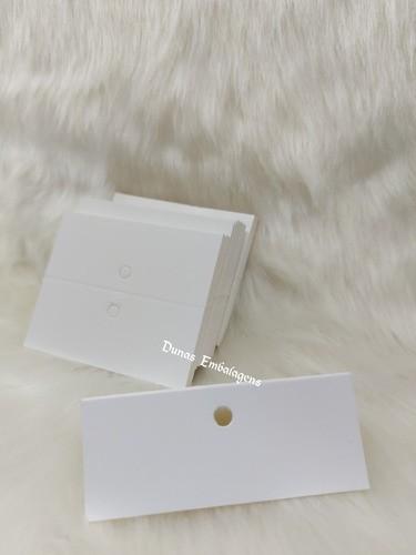 Cartela D13 Branca 7x9 pacote com 1000 unidades
