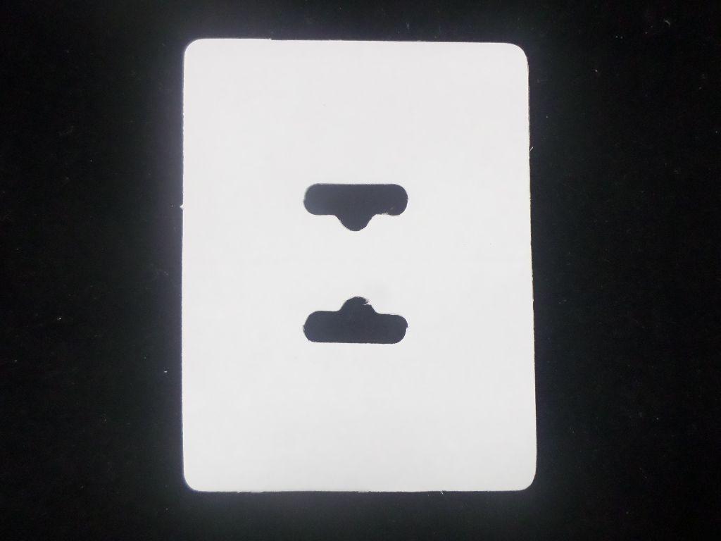 Cartela D14 Branca 6x8 pacote com 1000 unidades (Solapa)