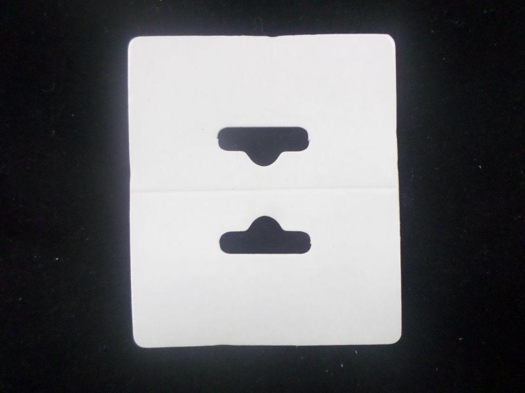 Cartela D15 Branca 5x6 pacote com 100 unidades (Solapa)