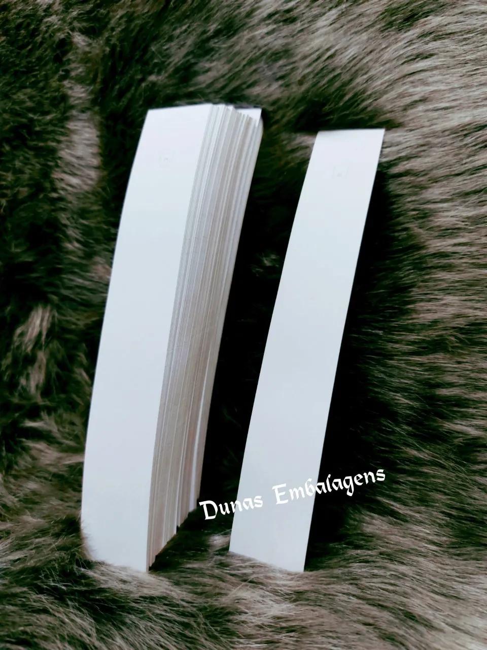 Cartela D16 Branca 3.5x22  pacote com 1000 unidades