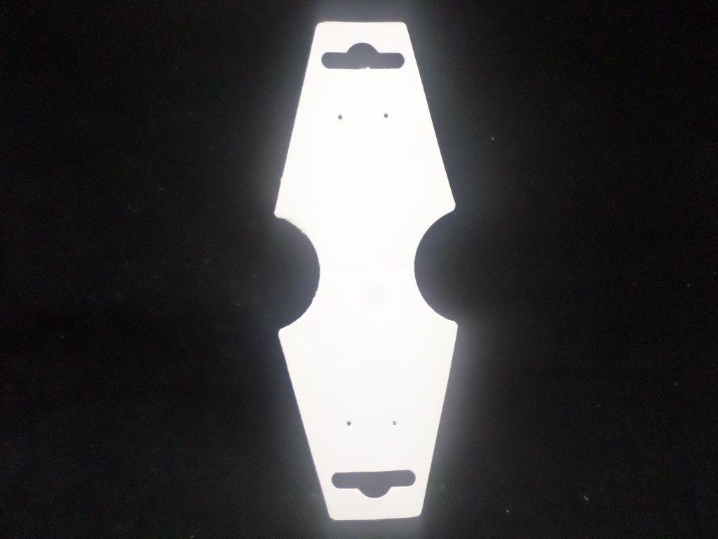 Cartela D19 Branca 4x13 com 1000 unidades (cartela para brinco/colar/pulseira)