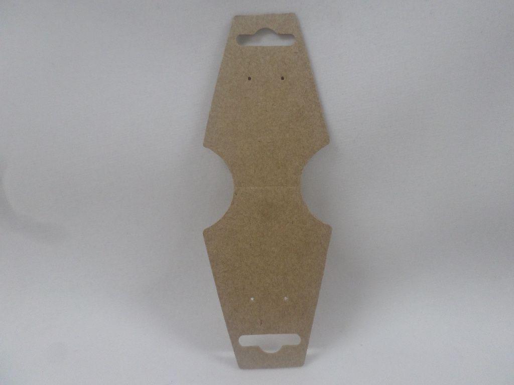 Cartela D19 Kraft 4x13 com 100 unidades (cartela para brinco/colar/pulseira)