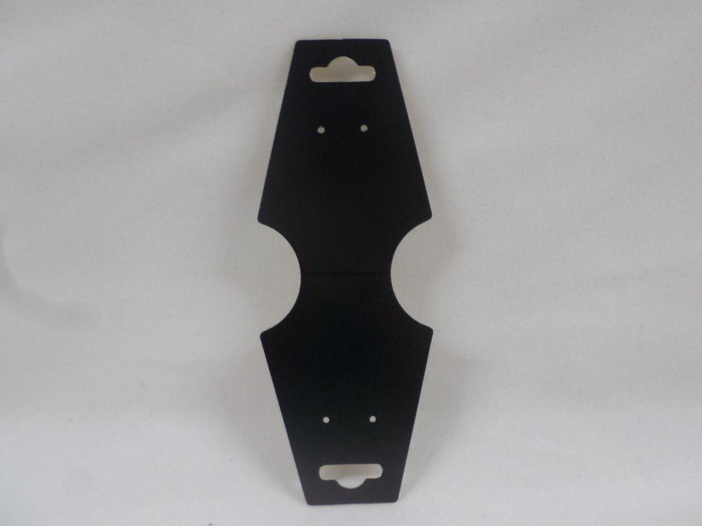 Cartela D19 Preta 4x13 com 100 unidades (cartela para brinco/colar/pulseira)