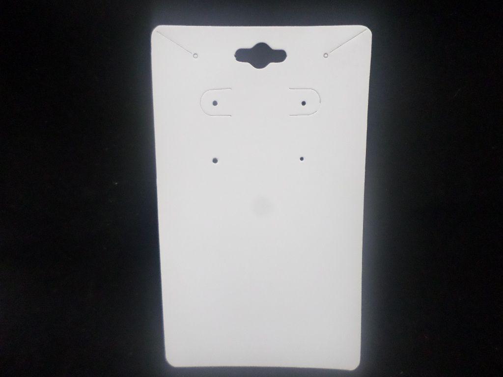 Cartela D20 Branca 7x12 com 100 unidades (cartela para brinco e colar)