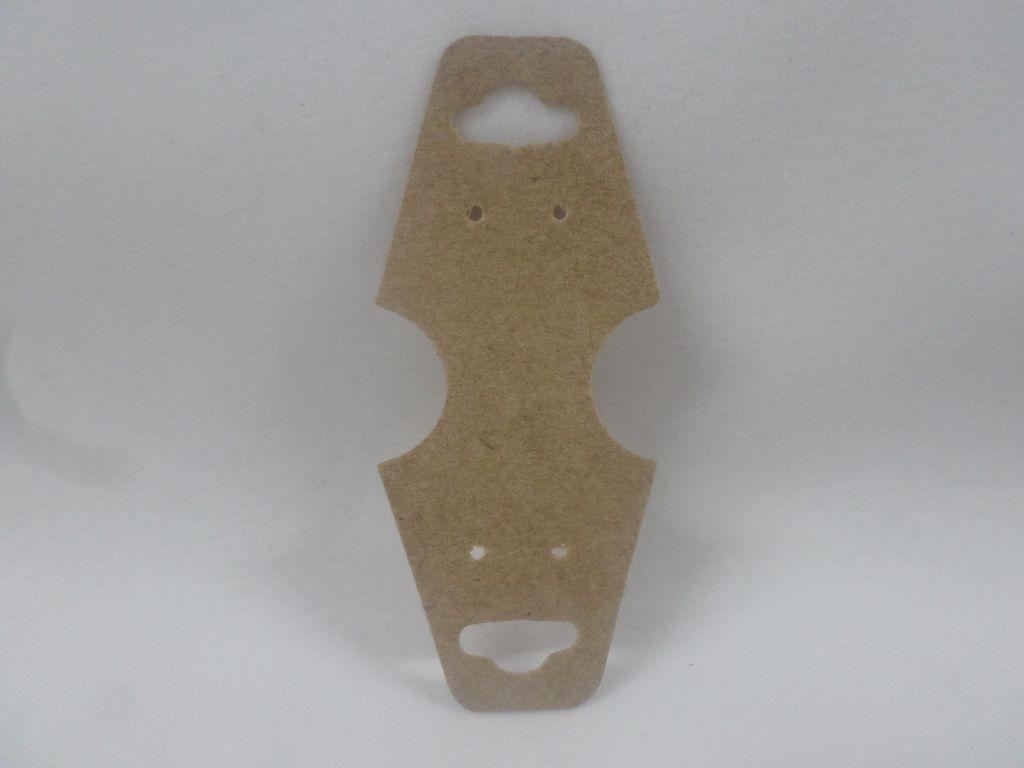 Cartela D22 Kraft 3x8 com 100 unidades (cartela para brinco/colar/pulseira)