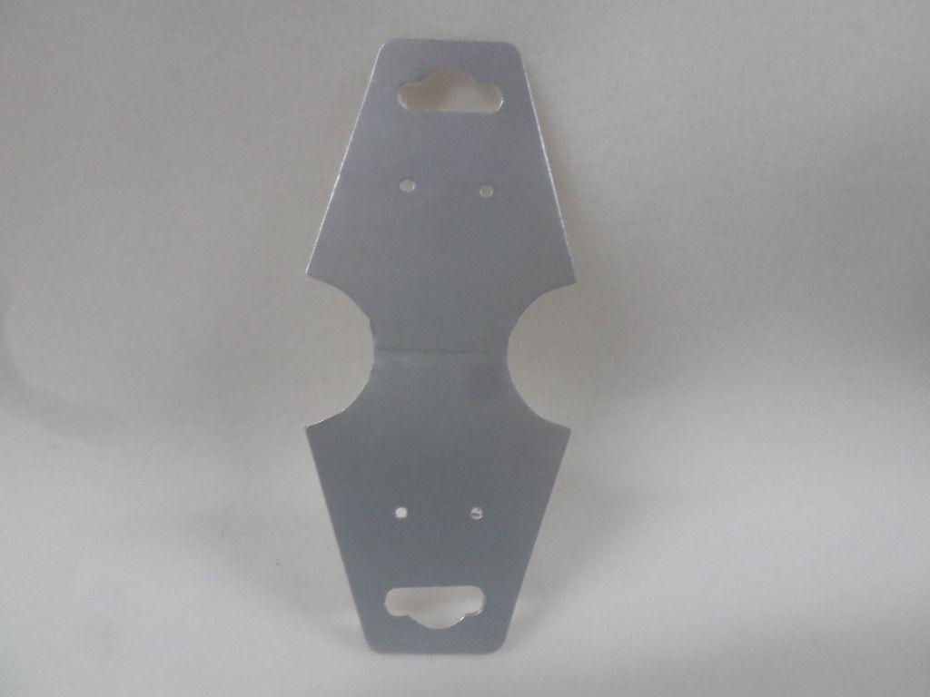 Cartela D22 Prata 3x8 com 100 unidades (cartela para brinco/colar/pulseira)