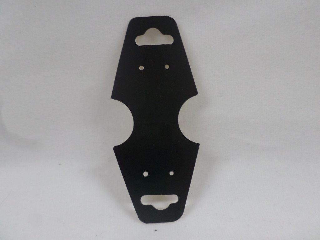 Cartela D22 Preta 3x8 com 100 unidades (cartela para brinco/colar/pulseira)