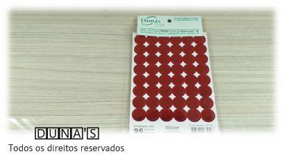 Etiqueta adesiva ( bolinha vermelho ) pacote com 96 unidades
