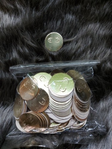 Etiqueta de Papel para Brinco redonda- DOURADA ( pacote com 500 unidades )