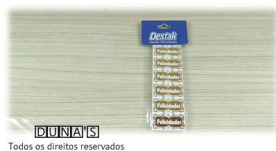Etiqueta FELICIDADES OURO -(100 unidades )