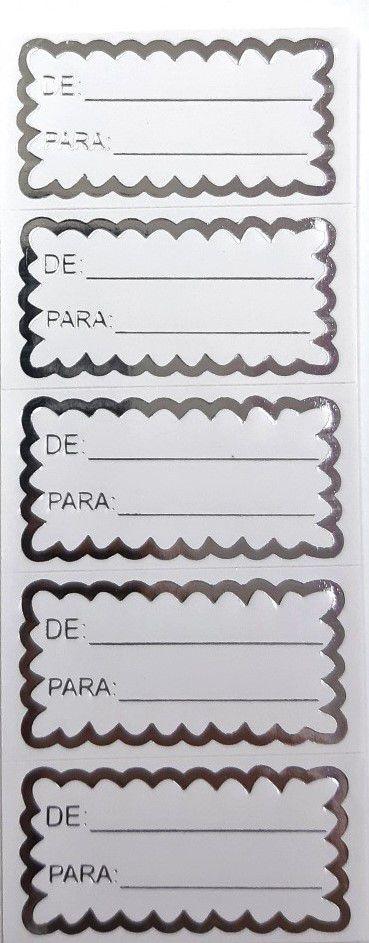ETIQUETAS ADESIVAS (DE: PARA: ) PRATA