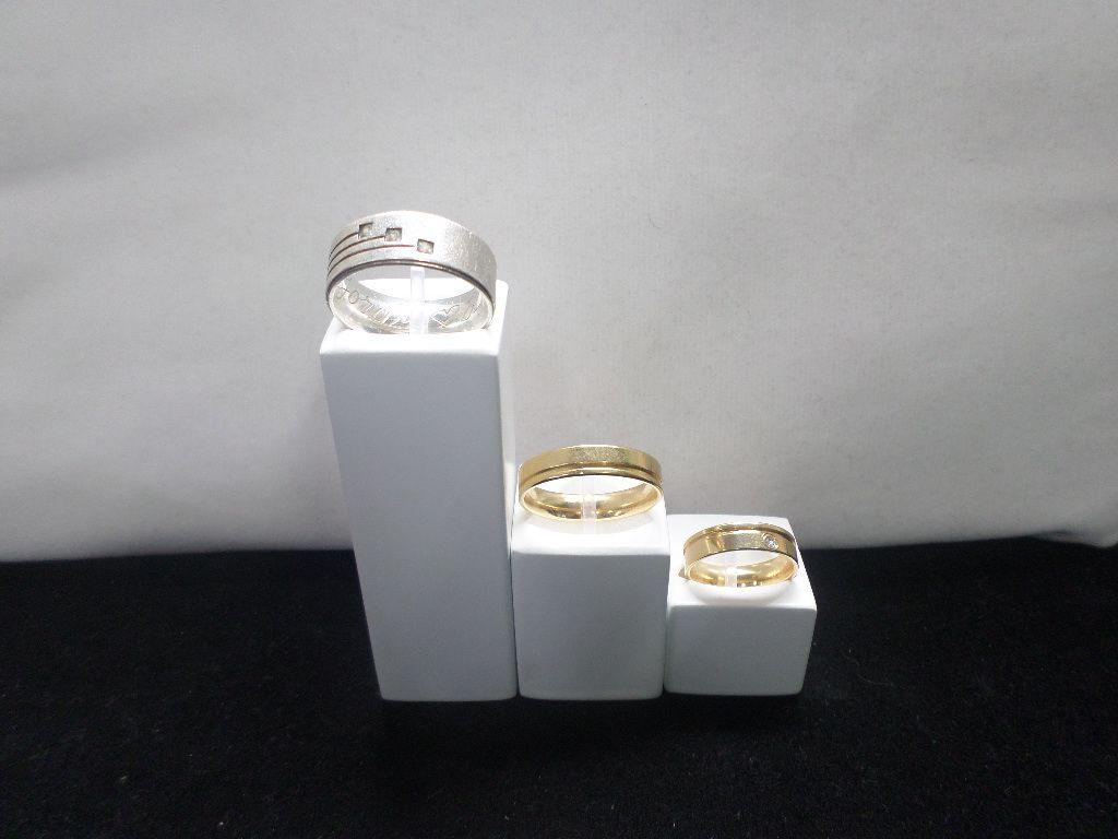 Expositor (Conjunto de 03 pçs ) para Anéis Branco