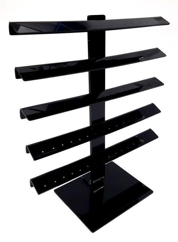 Expositor de Acrílico para Piercing Antena Preto G