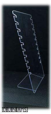 Expositor de Acrílico Transparente  - 10 recortes para Correntes 16.5x09x34