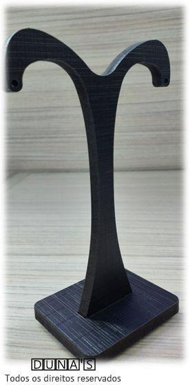 Expositor de Brinco Individual ( modelo T- grande) MDF Preto 5x6x13