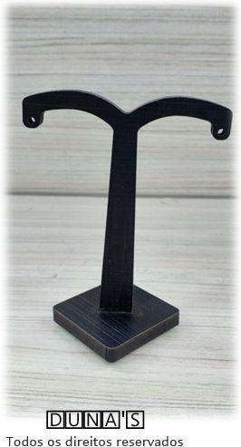 Expositor de Brinco Individual ( modelo T- peq ) MDF Preto 4x4x10