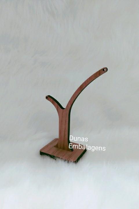 Expositor de Brinco Individual ( modelo Y ) MDF Marrom 8x5x13