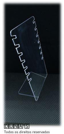 Expositor de Corrente ( 7 recortes ) Acrílico Transparente 27x16x9
