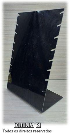 Expositor de Corrente ( 8 recortes com brincos ) Preto 29x19x11