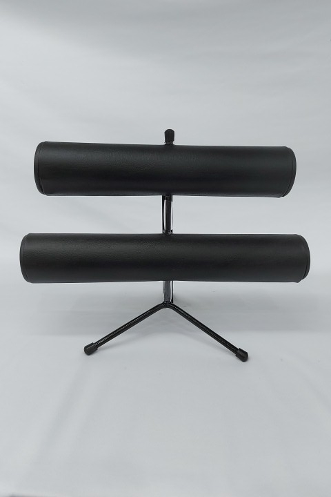 Expositor de Pulseira ( pé de ferro ) Duplo Napa Preto 30x23x16