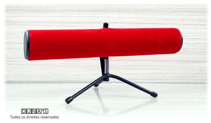 Expositor de Pulseira ( pé de ferro ) Veludo Vermelho 30x14x16
