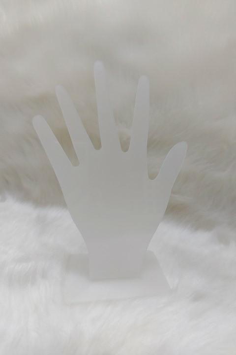 Expositor Mão ( acrílico fosco  ) 15x17x6