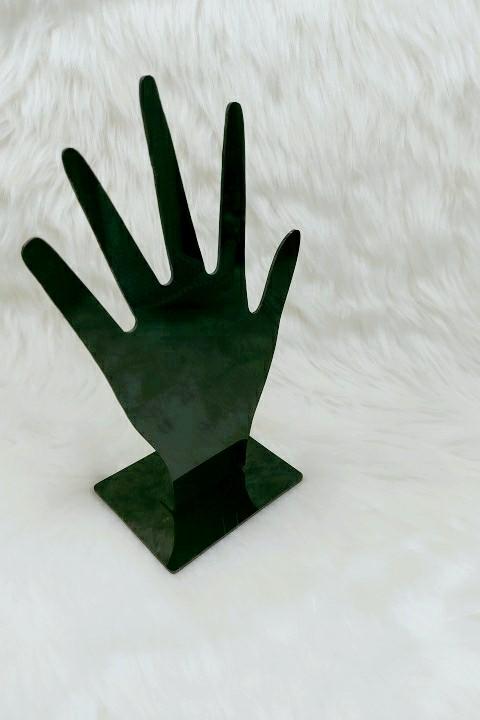 Expositor Mão ( acrílico preto ) 15x17x6