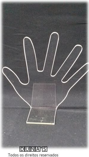 Expositor Mão ( acrílico transparente ) 15x17x6
