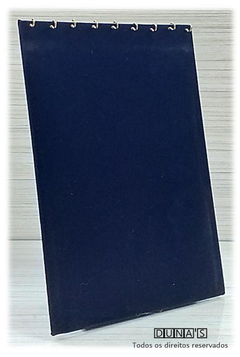 Expositor para Corrente Veludo Preto ( 09 ganchos ) em pé 32x22x8