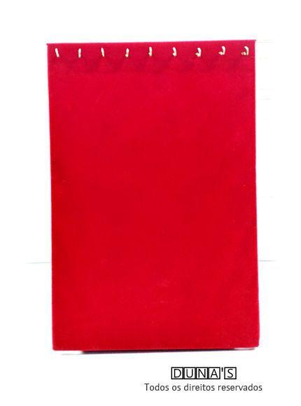 Expositor para Corrente Veludo Vermelho ( 09 ganchos ) em pé 32x22x8