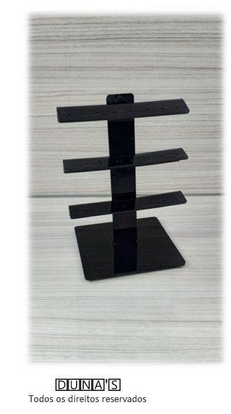 Expositor para Piercing Acrílico Preto Haste Peq ( 24 furos ) 10x08x13