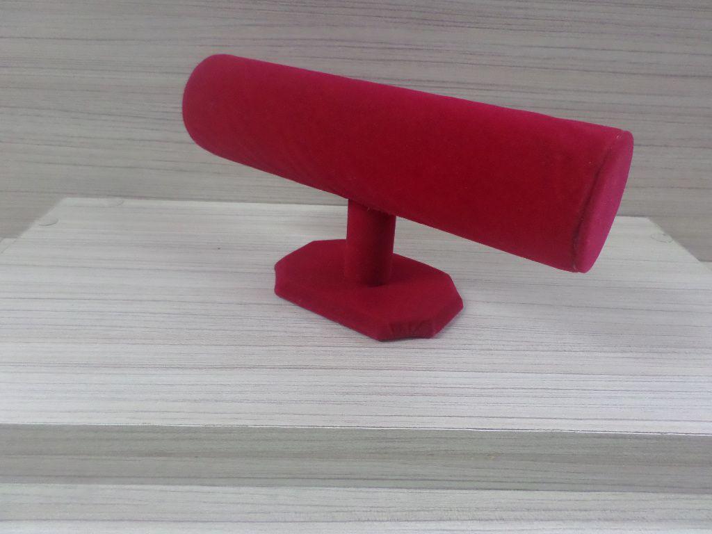 Expositor Veludo Vermelho Pulseira 23x14x7
