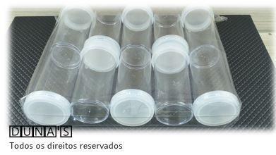 Frasco Acrílico Grande 8x4 pacote com 10 pçs