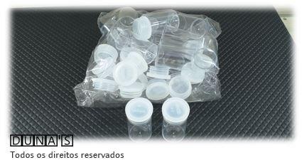 Frasco Acrílico Pequeno 3x2 pacote com 100 unidades