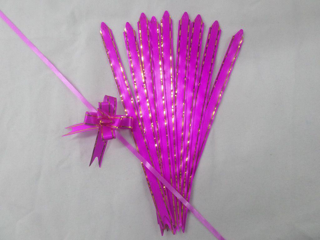 Laço Mágico Pequeno Pink com dourado ( pacote com 10 unidades )