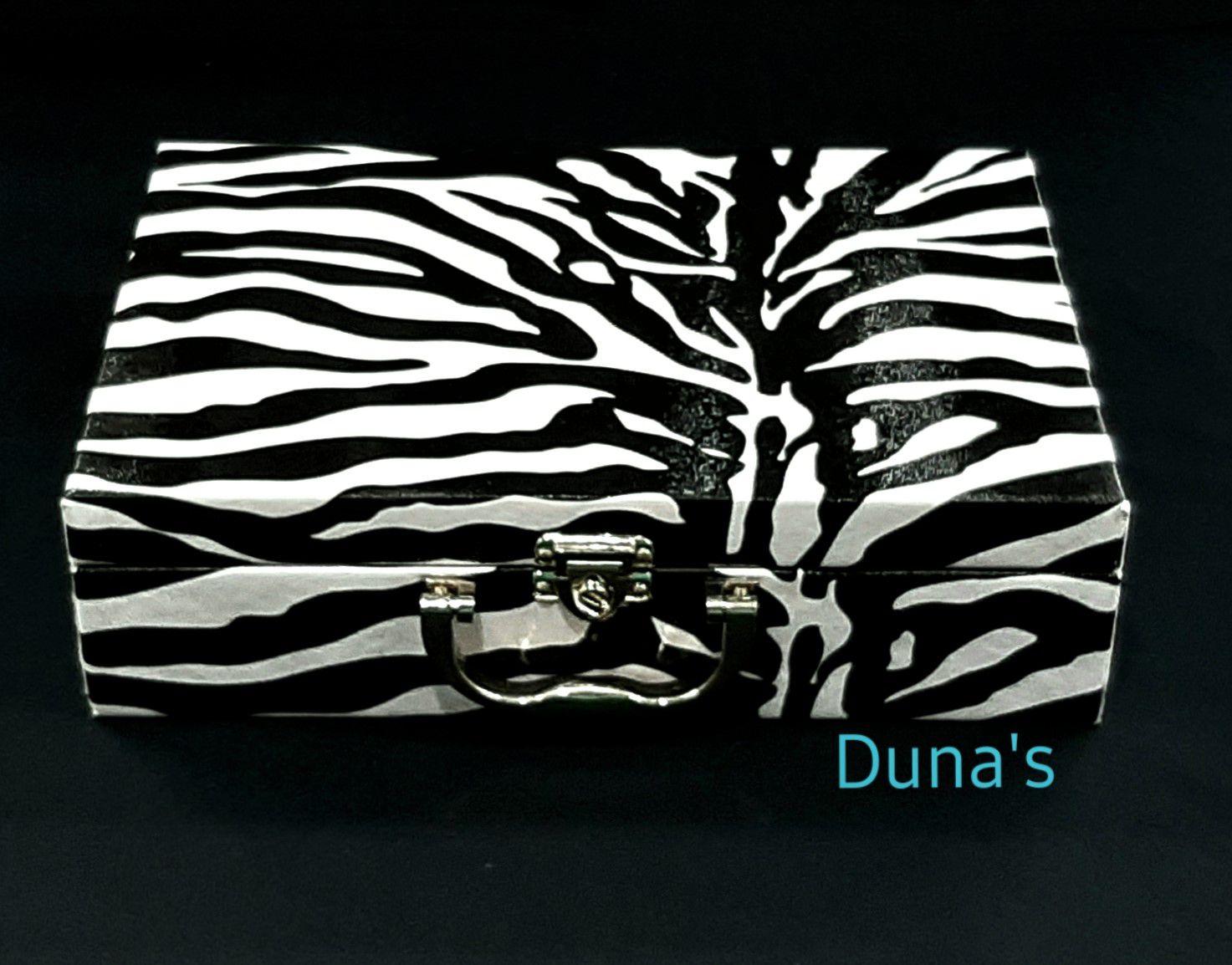 Maleta Para Bijuterias Estampa Zebra