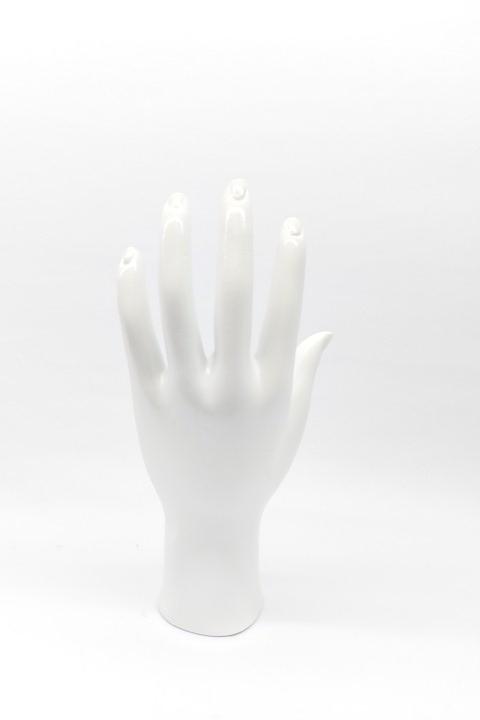 Mão de Resina Branco 11x20x5