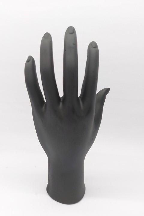 Mão de Resina Preto 11x20x5