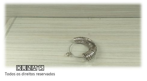 Medidor de dedo alumínio  ( argolas  )