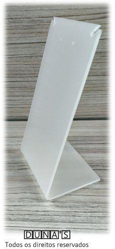 Placa de Acrílico para Brinco Individual Fosco 11x6x5