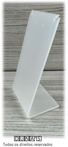 Placa de Acrílico para Brinco Individual Fosco 13x7x6