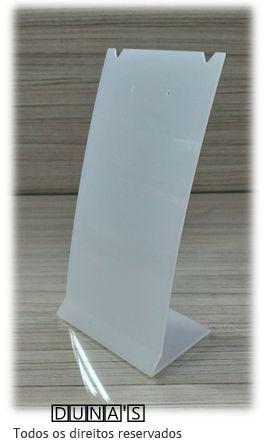 Placa de Acrílico para Brinco Individual Fosco 16x8x6