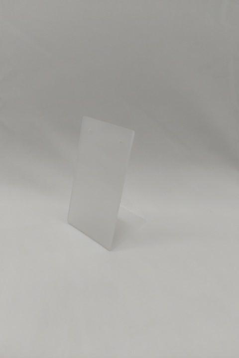 Placa de Acrílico para Brinco Individual Fosco 4x8x3