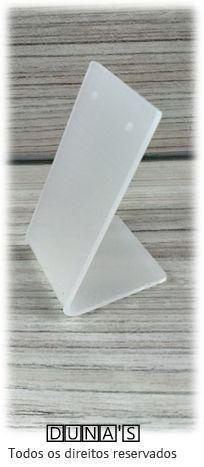 Placa de Acrílico para Brinco Individual Fosco  5x10x4
